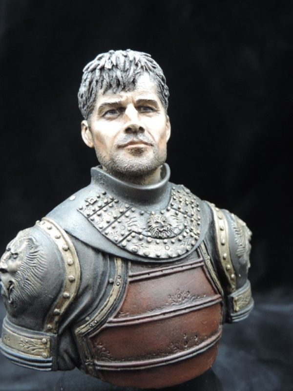 Hand Painted 80mm Game Of Thrones Jamie Lanister Military Bust Produced By Loggerheads Military Studio