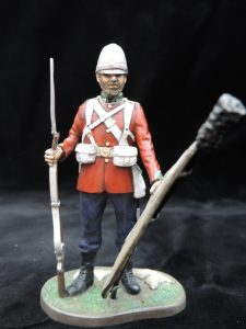 Hand Painted 90mm Metal Cast Military Figure Private 24th Foot Zululand 1879 Produced By Loggerheads Military Studio