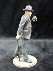 Hand Painted 90mm Metal Cast Military Figure Sir Winston Churchill Produced By Loggerheads Military Studio