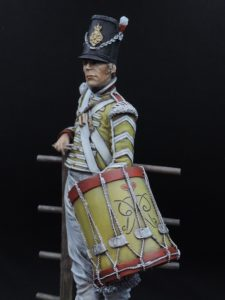 Commission Hand Painted 200mm Resin Military Figure Drummer 44th Regiment Waterloo Produced By Loggerheads Military Studio