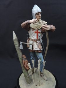 Commission Hand Painted 120mm Resin Military Figure English Longbow-man Produced By Loggerheads Military Studio