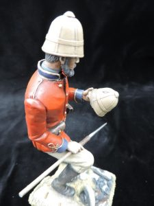 Hand Painted 150mm Resin Military Figure British Empire Lieutenant Chard Produced By Loggerheads Military Studio