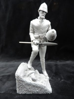 Unpainted Kit 150mm Resin Military Figure British Empire Lieutenant Chard Produced By Loggerheads Military Studio