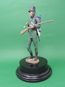 Commission Hand Painted 200mm Resin Military Figure Sergeant 95th Rifles Waterloo Produced By Loggerheads Military Studio