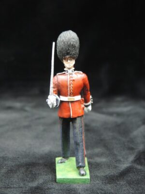 54mm Metal Cast Toy Soldier. Scots Guards Officer Marching