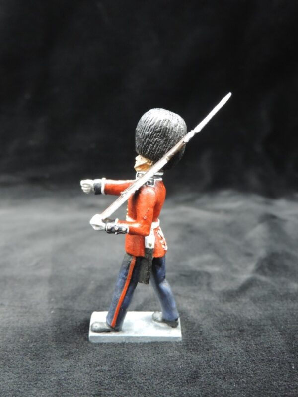54mm Metal Cast Toy Soldier. Scots Guards Marching Rifle On Shoulder