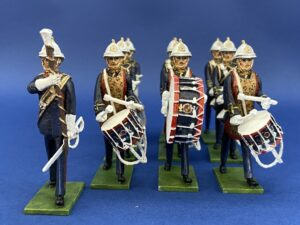 54mm Metal Cast Toy Soldier. Marine Marching Drum Corp 10 Piece