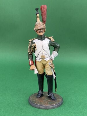 Hand Painted 90mm Metal Cast Military Figure French Imperial Guard Dragoons Officer 1812 Produced By Loggerheads Military Studio