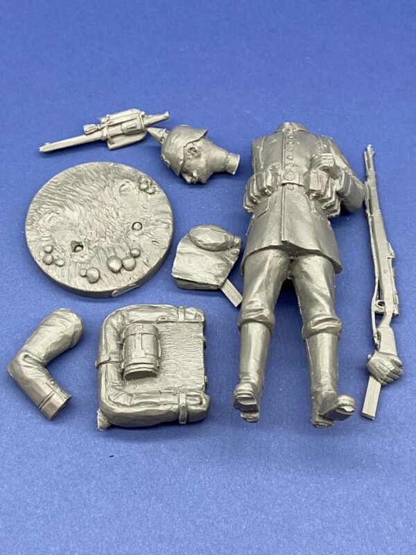 Unpainted Kit 120mm Resin Military Figure German Infantry 1914 Produced By Loggerheads Military Studio