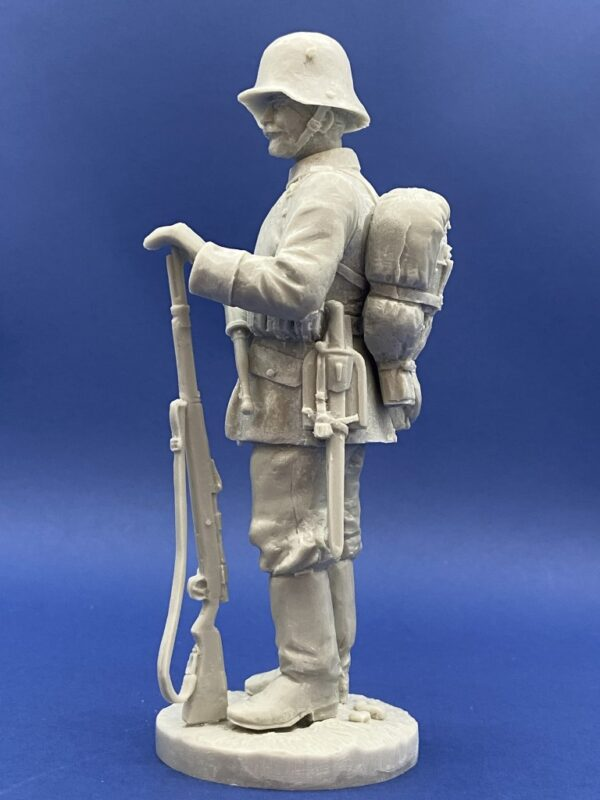 Unpainted Kit 120mm Resin Military Figure German Infantry 1916 Produced By Loggerheads Military Studio