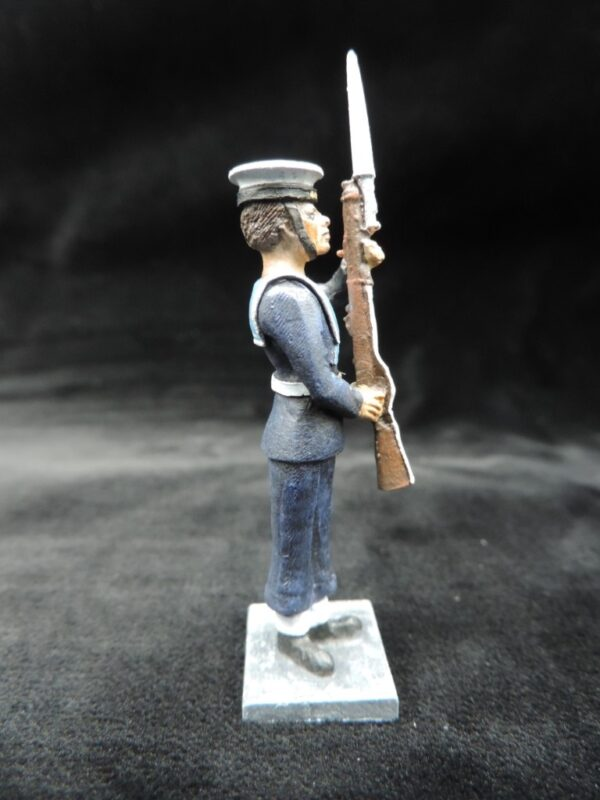 54mm Metal Cast Toy Soldier. Royal Navy Standing