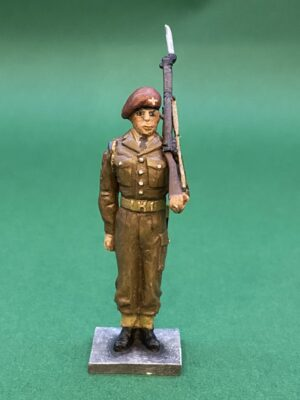 54mm Metal Cast Toy Soldier. Parachute Regiment Standing